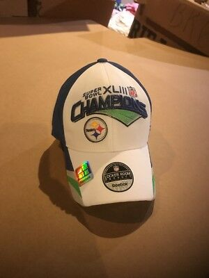 176f116a4 Official Locker Room Hat Pittsburgh Steelers Super Bowl XLIII Champions NFL