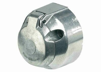 12N Metal Towing Socket For Trailer Caravan 7 Pin With Fog Cut Out Ring A0005