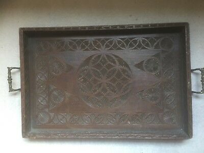 antique wooden serving tray