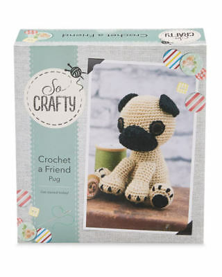 So Crafty Kit Crochet A Friend - Pug  New in box