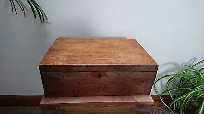Old Vintage Wooden Writing Box