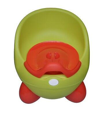 NEW BABY TOILET EASY CLEAN KIDS TODDLER POTTY TRAINING CHAIR SEAT Green/Orange