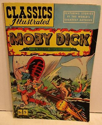 Classics Illustrated Comic Book No. 5 Moby Dick by Herman Melville