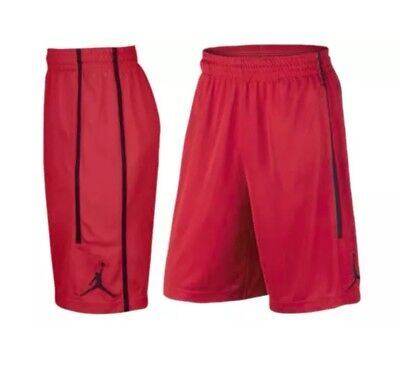 2d0929f51794 Nike Double Crossover Air Jordan Red Black Basketball Shorts (AA1383 687)  LARGE