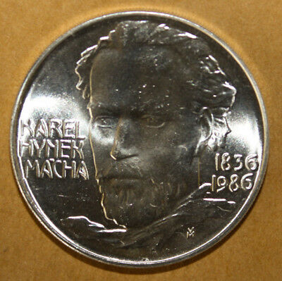 Czechoslovakia 100 Korun 1986 Brilliant Uncirculated Silver Coin *** Macha