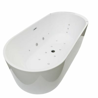 Roman White 1700mm x 800mm  Double Ended Freestanding Whirlpool Bath Jacuzzi