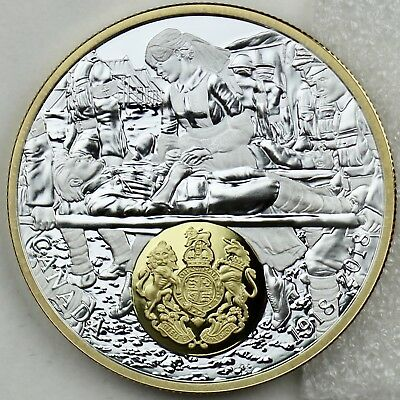 2018 $20 1 oz. Pure Silver Gold-Plated First World War Allies: Great Britain