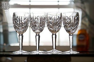 Waterford Crystal Glengarriff Claret Wine Glass Goblet Set Of (4) Mint 6 1/2