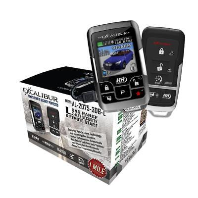 Excalibur AL-2075-3DB-L 2-Way 1 Mile Long Range Car Remote Start Security System