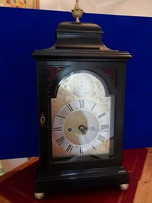 A Fine Small George II Ebonised Bracket Clock by William Tomkins of London c1750