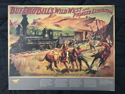 Buffalo Bill's Wild West and Pioneer Exhibition Contemporary Poster 16 x 20