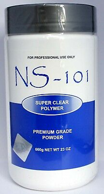 NS 101 Acrylic Powder 660g   Super Clear Polymer
