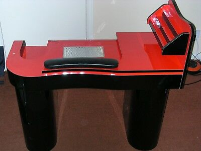 Nails Manicure  Table Jk Red With Atractor Fan Build In