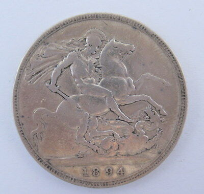 Great Britain Crown 1894 in F to VF Condition  #DB