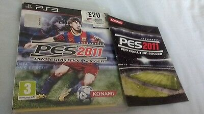 Pes 2011: Pro Evolution Soccer PlayStation 3 complete excellent condition