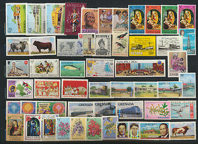 British Colonial Stamp Super Pack 50 Different Mint NH Topicals Commemoratives