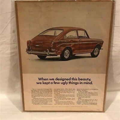 Our Beauty Will It Spoil The VW Image 1967 VOLKSWAGEN FASTBACK Car VINTAGE AD