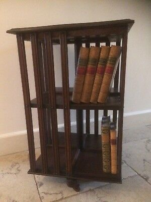 Late Victorian / Edwardian (?) revolving bookcase