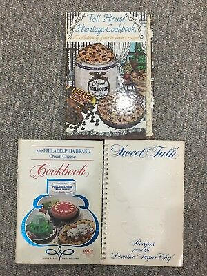 Lot Of 3 Mini Cookbooks; Toll House, Domino Sugar & Philly Cream Cheese