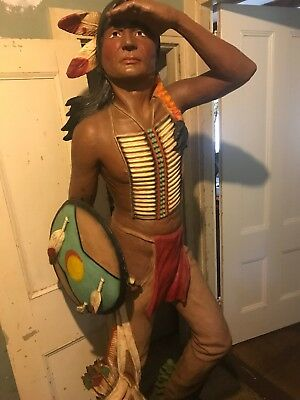 Universal Statuary 6 Ft Native American Indian Resin Statue Cigar Store!!