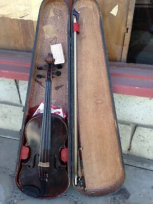 ANTIQUE EARLY 1800's NICOLAS MORLOT VIOLIN WITH GSB IMPERIAL WOODEN CASE