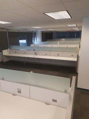200+ Steelcase Answers Benching Desks Open Plan Work Stations with Glass