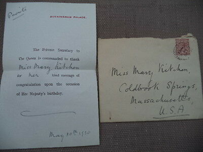 1930 Buckingham Palace Thank You Note with Envelope