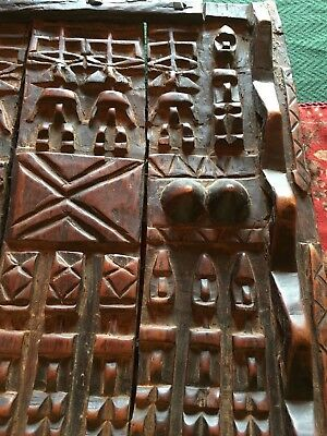 African Carved Wood Door -- Antique, Ethnic, Highly Collectible Piece!