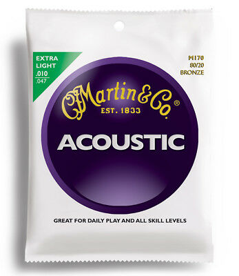 Martin & Co 80/20 Bronze M170 Acoustic Guitar Strings 10-47 Extra Light
