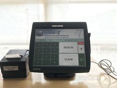 Micros WS-5A Workstation Touchscreen POS Set Point of Sale System, Printer -