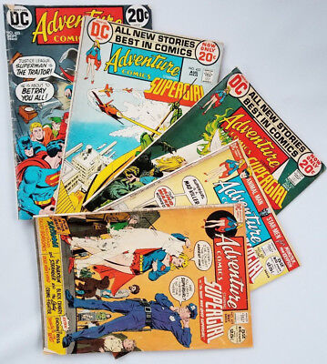 ADVENTURE COMICS SILVER AGE LOT of 5: #419, 420, 421, 422, 423. Rough! Look!