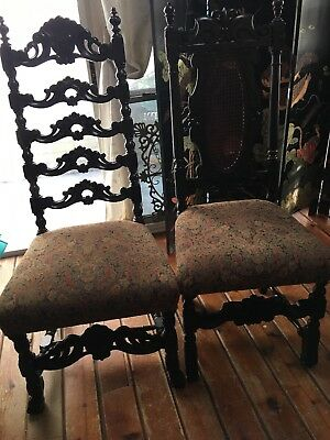 Pair Of Chair In Walnut Wood Willian And Mery