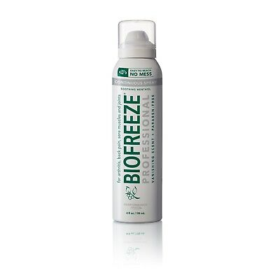 BIOFREEZE PRO 360 degree 4 oz Spray Pain Relief NO MESS , FREE SHIPPING 2020+ O