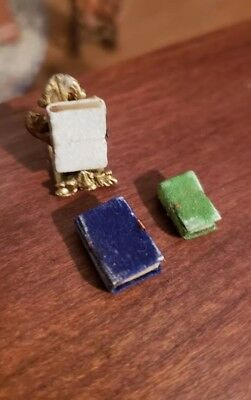 Micro Miniature Vintage Books Pages Blank Estate Of Mother Larke