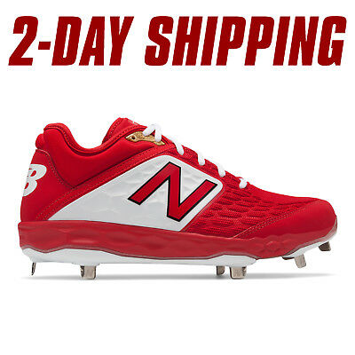 New Balance Baseball Low-Cut L3000v4 Metal Cleats Red/White L3000TR4*2-DAY SHIP*