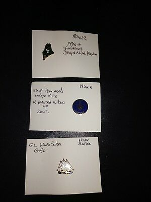 LOT OF 3 MASONIC PINS Maine & Nova Scotia Very Good Condition Lot #1