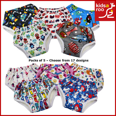 Reusable Toilet Potty Pull Up Toddler Training Pants - 5 Pack - Soft Bamboo NEW!