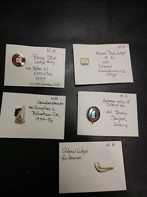 LOT OF 5 MASONIC PINS New Hampshire Very Good Condition Lot #3