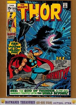 The Mighty Thor #185 (9.2) NM- 1st Infinity App 1971 By John Buscema & Stan Lee