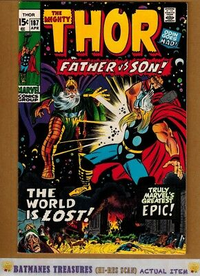 The Mighty Thor #187 (9.0-9.2) NM- 1971 By John Buscema & Stan Lee