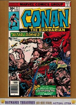 Conan the Barbarian #71 (9.2-9.4) NM By Gil Kane 1977 Bronze Age Key Issue