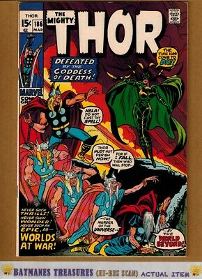 The Mighty Thor #186 (9.2-9.4) NM Hela & Loki Appearance 1971 By Stan Lee