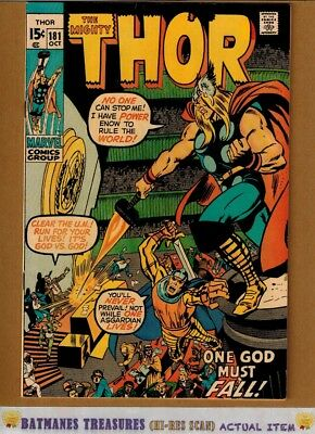 The Mighty Thor #181 (9.0-9.2) NM- 1970 By Neal Adams & Stan Lee