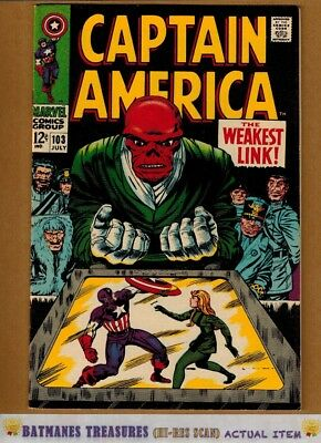 Captain America #103 (9.0-9.2) NM- Red Skull 1968 Silver Age Stan Lee Jack Kirby