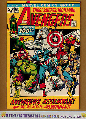 Avengers #100 (9.0-9.2) NM- Cover By Barry Windsor-Smith 1972 Bronze Age