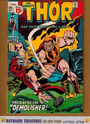 The Mighty Thor #192 (8.5) Last 15-Cent Cover 1971 By John Buscema & Stan Lee