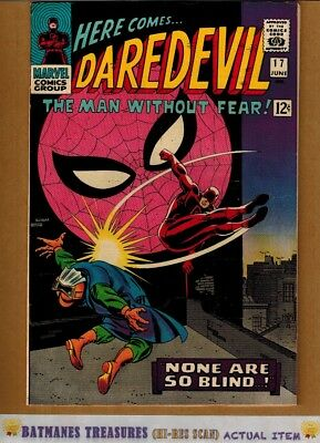 Daredevil #17 (9.2-9.4) NM Spider-Man Appearance 1966 Silver Age By Stan Lee
