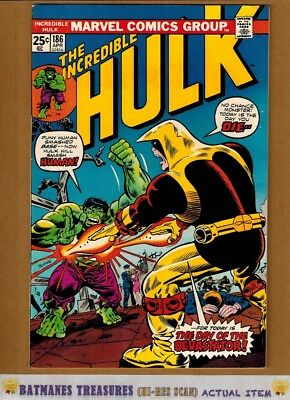 Incredible Hulk #186 (9.0-9.2) NM- By Herb Trimpe 1975 Bronze Age Key Issue