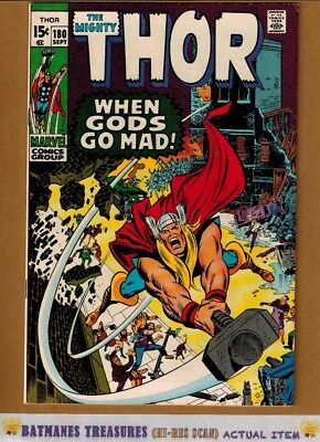 The Mighty Thor #180 (9.0-9.2) NM- 1970 By Neal Adams & Stan Lee