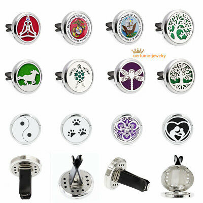 Car Vent Clip Air Freshener Essential Oil Diffuser Alloy Locket fragrance gifts